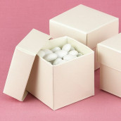 La boite à dragées cube ivoire (par 25)