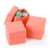 Les 25 boîtes à dragées cube corail