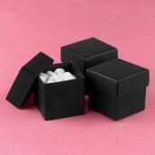 La boite à dragées cube noire (par 25)