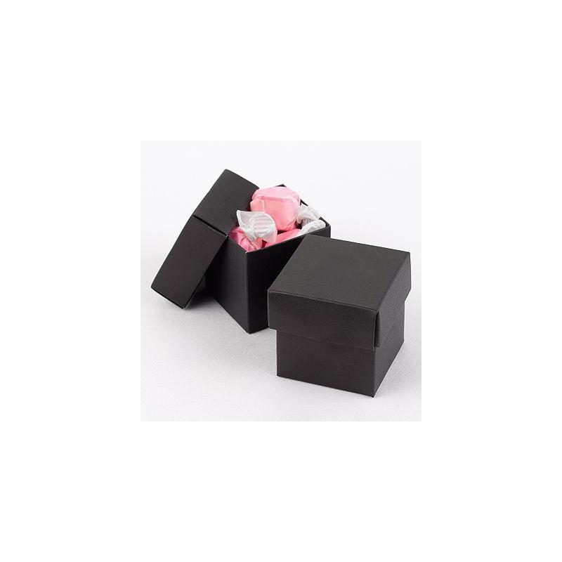 boite dragees cube noir. Black Bedroom Furniture Sets. Home Design Ideas