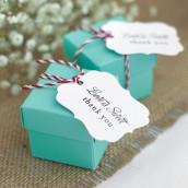 Les 25 boîtes à dragées cube turquoise