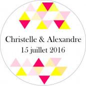 Les 24 stickers personalisés triangles (2 coloris)