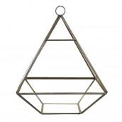 Le terrarium pyramidal en métal et verre 21cm x16cm