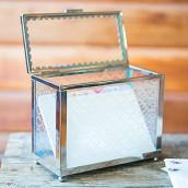 L'urne de mariage coffre de verre