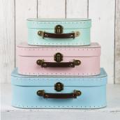 Le set de 3 valises pastel