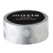Le rouleau de washi tape à pois argent