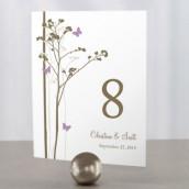 Les 12 numéros de table champêtres