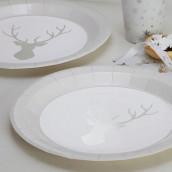 Les assiettes en carton renne