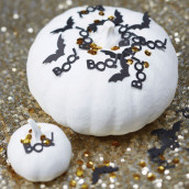 Les confettis halloween noir et or