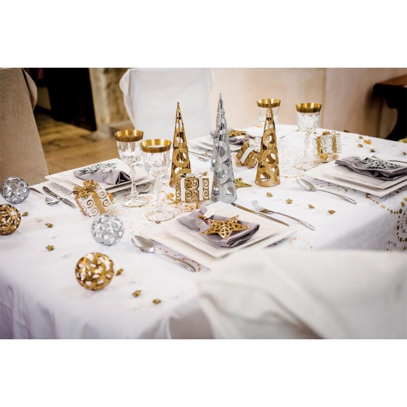 Cone decoratif argent for Centre de table argent
