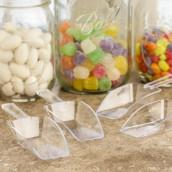 Les 4 pelles à bonbons transparentes