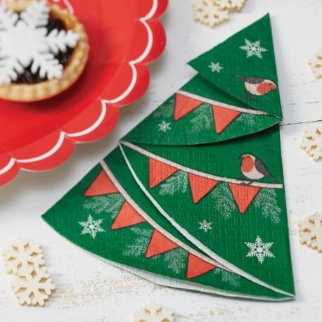 Les serviettes sapin de Noel