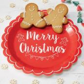 Les assiettes en carton merry christmas