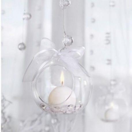 Les 4 boules en verre à suspendre ouvertes