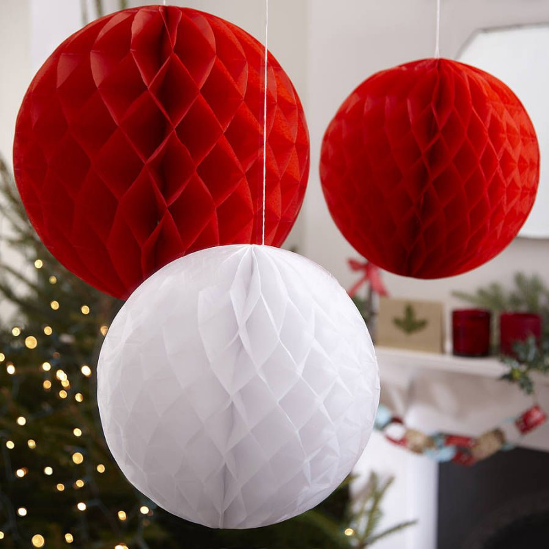 Boule papier 20cm - Fabriquer une boule en papier ...