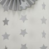 La guirlande d'étoiles argent