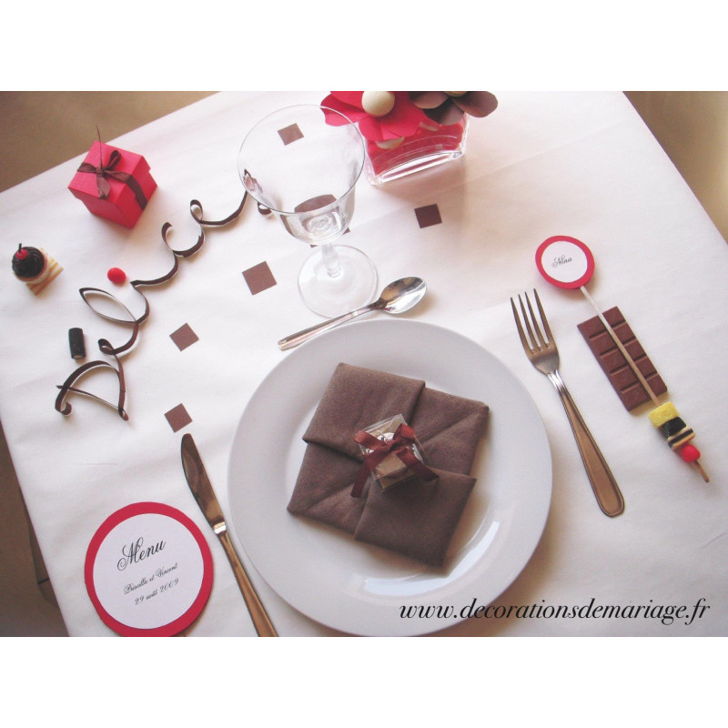 Decoration de mariage theme gourmandise id es et d for Decoration table gourmandise