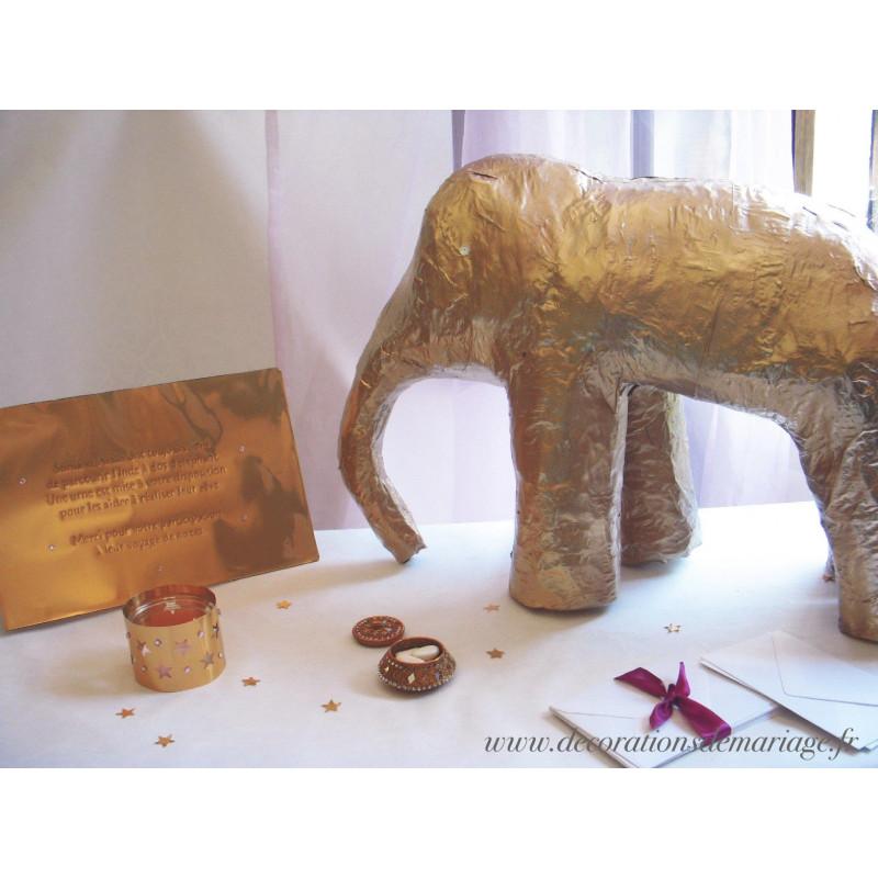 Decoration Table Urne Mariage : Urne mariage elephant papier mache