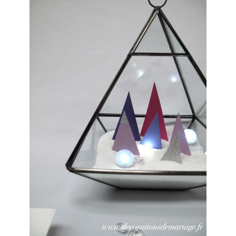 decoration de table noel geometrique. Black Bedroom Furniture Sets. Home Design Ideas