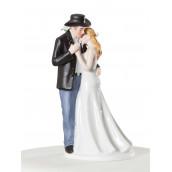 Figurine mariage cowboy thème country