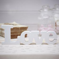Love en bois blanc