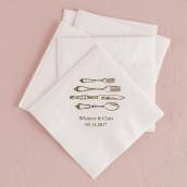 serviette personnalisée couvert