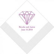 Les 50 serviettes personnalisées diamant 12,5cm