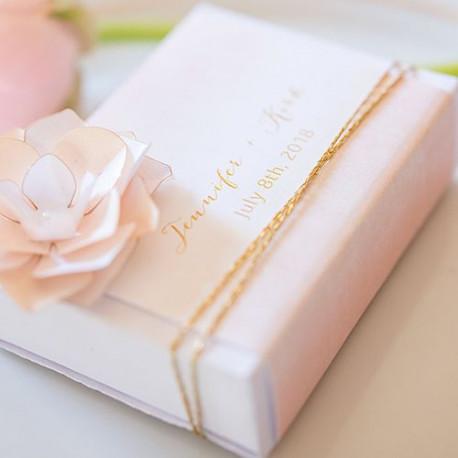 Les 8 emballages rose pastel pour boite d'allumettes personnalisée