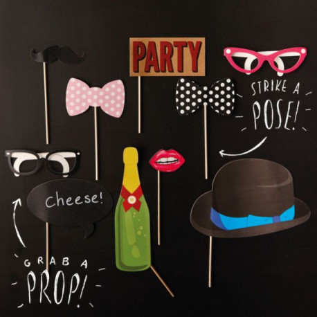 Kit Accessoires Photobooth Champagne