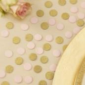Les confettis de table rose et doré