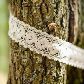 Le ruban dentelle ivoire 5,4cm sur 5m