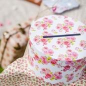 L'urne de mariage boîte à chapeau liberty