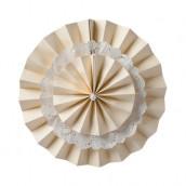 La rosace double et napperon en dentelle blanche, rose ou ivoire