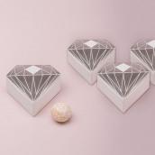 La boîte à dragées diamant argent x10