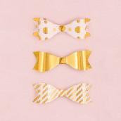 Les 12 noeuds papillon dorés à motifs