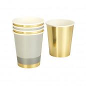 Les 8 gobelets métallisés or et argent