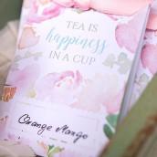 Les 8 emballages sachets de thé garden party