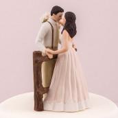 La figurine mariage rustique rambarde