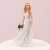 La figurine la mariée à la couronne champêtre
