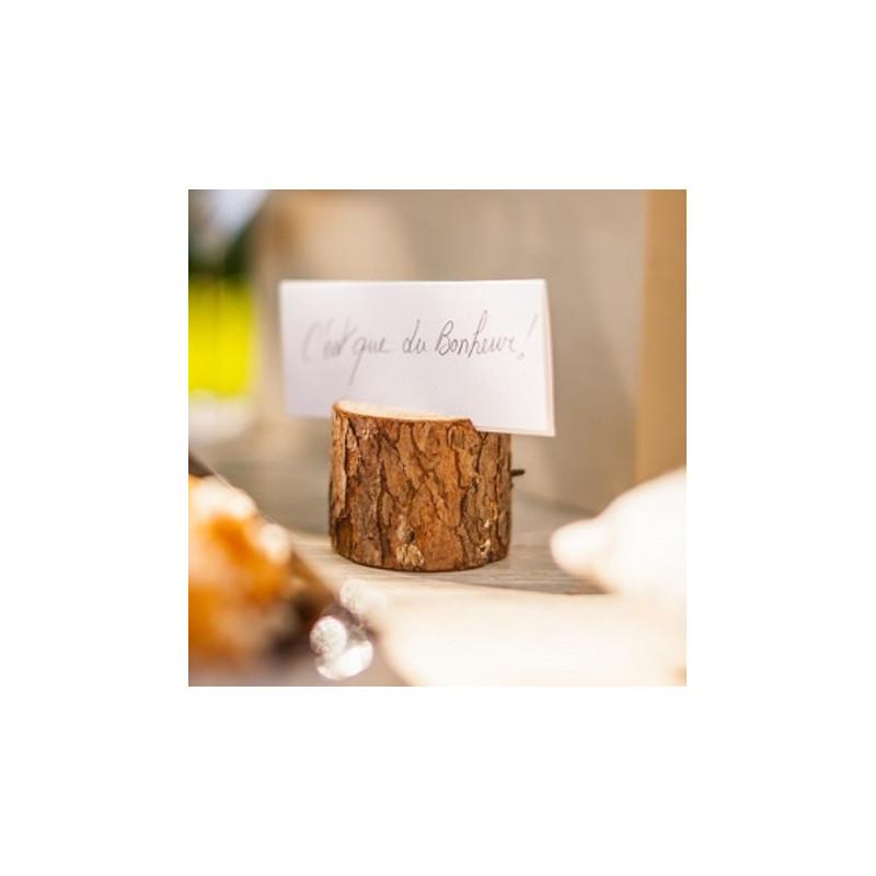 Porte menu rondin pour num ros de table - Porte bougie en bois ...