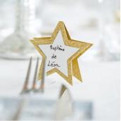 Le marque place étoile dorée (par 10)