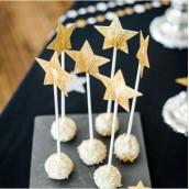 Les baguettes magiques étoile or x6