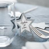 Le marque place étoile argentée (par 10)
