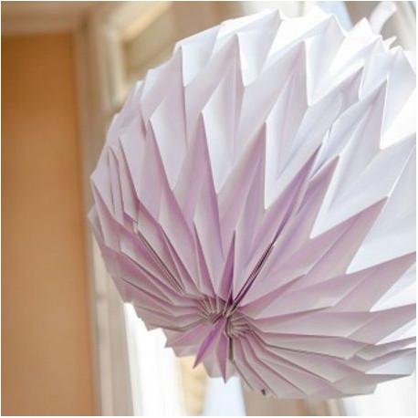 La boule origami blanche x3