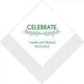 Les 100 serviettes personnalisées celebrate