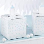 La boîte à dragées biberon bleu baptême