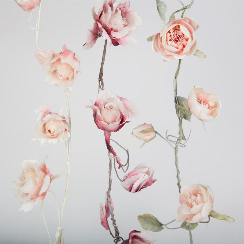Guirlande de roses artificielles for Guirlande fleurs artificielles