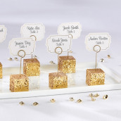Le marque place cube glitter or (x6)
