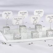 Le marque place cube glitter argent (x6)