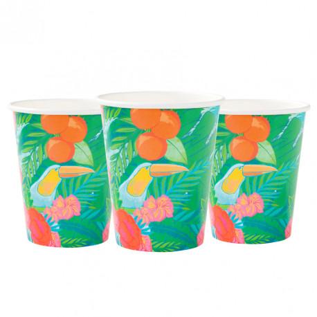 Les 12 gobelets thème tropical